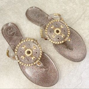 Jack Rogers Clear Georgica Jelly Thong Sandals